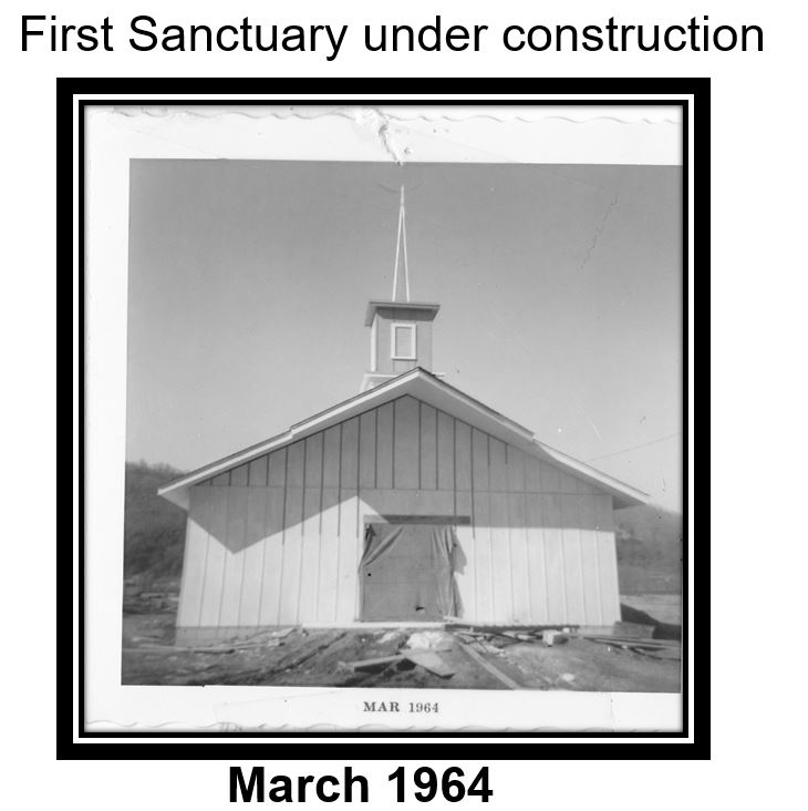 1st Sanctuary under construction March 1964.JPG